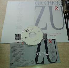 JOHNNY HALLYDAY MAMA DANS INTROUVABLE CD PROMO AVEC ENCART ZUCCHERO ZU & CO