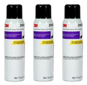 3 Cans Of 3m 26689 Spray Gun Cleaner Solvent H2o Base Cleaner