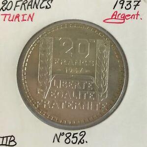 20-FRANCS-TURIN-1937-Piece-de-Monnaie-en-Argent-TTB