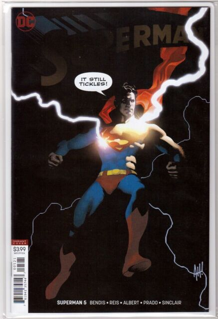 SUPERMAN #5 DC Adam Hughes Virgin VARIANT Cover Brian Bendis DC Comic Unread NM+