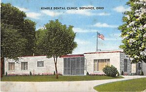 Image Is Loading Defiance Ohio Kimble Dental Clinic Exterior View Antique