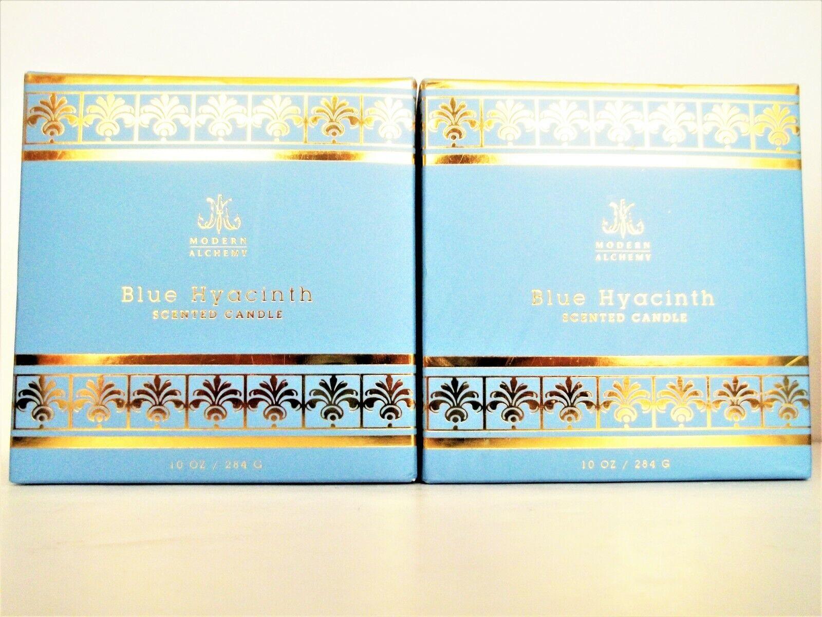 D.L. & Co. Modern Alchemy Blau HYACINTH Candle, Glass Jar, Boxed, 10 oz, NEW X 2