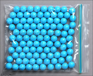 100 Premium .68 cal Reusable BLUE Rubber Training Balls NEW paintballs c reballs