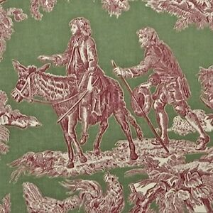 6-yds-Stroheim-La-Mistral-Aesop-039-s-Fable-Toile-100-Cotton-Dual-Purpose-Fabric