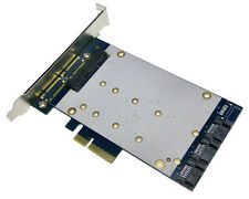 PCIe x4 to 22pin SATA + 3x SATA 7pin RAID Card SATA port multiplier Adapter