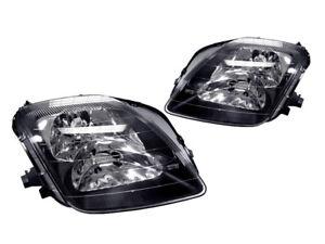 DEPO JDM Black Housing Replacement Headlight Pair For 1997-2001 Honda Prelude 636676410234