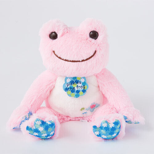 Pickles the Frog Bean Doll Plush Pink Konpeito Hydrangea Japan