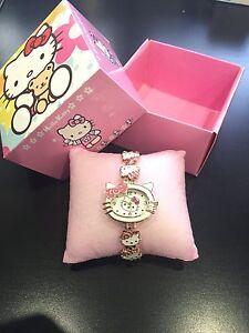 Hello-Kitty-Filles-Montre-Bracelet-Coffret-Cadeau-Set-NEUF