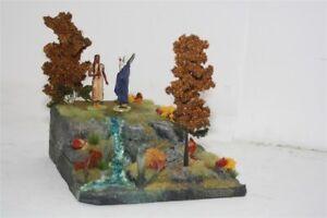 3239-Base-kleines-Herbstliches-Diorama-zu-7-cm-Sammelfiguren-Diorama-Zubehoer