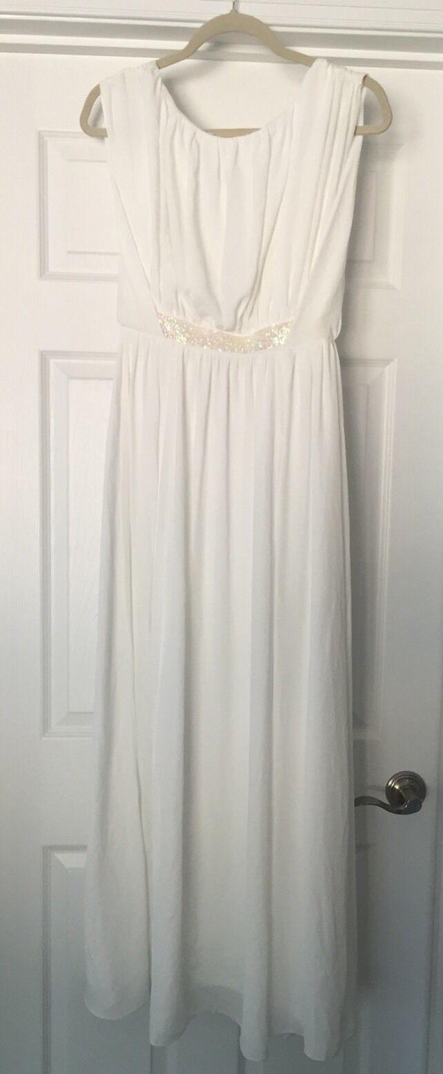 New Asos Petite Long Dress White Sexy Gorgeous Size 2 Party Wedding