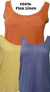 Ladies-M-amp-S-Collection-Sizes-10-18-Flax-Linen-Jersey-Vest-Top