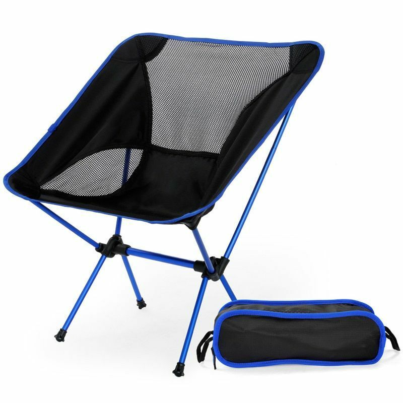Ultra Light Folding Fishing Chair Seat For Outdoor Used Oxford Cloth Alloy Tools