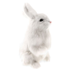 Realistic-Standing-Bunny-Rabbit-Model-Animal-Action-Figure-Kids-Gift-White