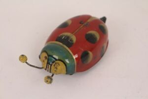 Gama-Ladybird-Bug-Approx-1935-No-5-Antique-Tin-Toy-D-R-G-M-Germany