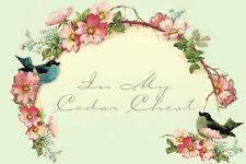 Shabby Vtg Chic Birds Pink Wild Roses Ebay Auction Listing Template