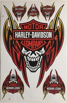 6 Harley Davidson Wing Stickers Decals Vinyl Bike Motorbike Racing Helmet Biker