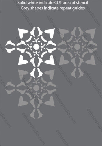 Azulejo de la plantilla 100 mm marroquí Plantilla Muebles Hogar Decoración De Pintura Manualidades Arte TL18