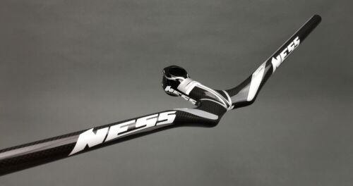 NESS Carbon MTB Road Bike Riser flat Handlebar 58-72 Integrated Bar Stem 9-12cm