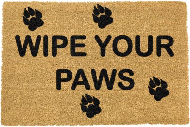 Artsy Pvc Backed Novelty Coir Door Mat Doormat Wipe Your Paws Ebay