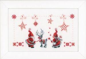 Elves-amp-Reindeer-Vervaco-Cross-Stitch-Kit-New
