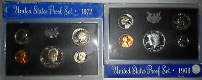 1968 S United States US Mint Clad Proof Set In Original Mint Packaging