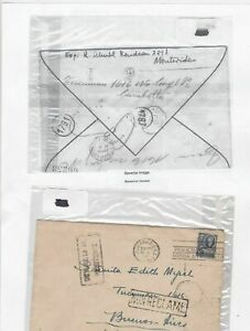 uruguay to argentina stamps cover Ref 9687