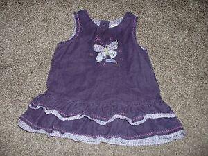 0f06ec2e9 Carters Baby Girls Plum Cute Purple Jumper Dress Size 6 Months 6M ...