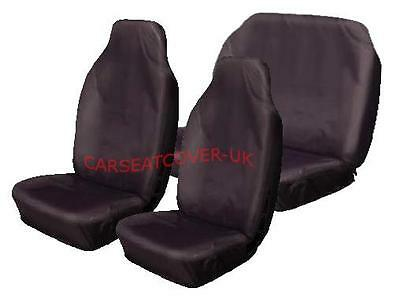 Heavy Duty Black Waterproof Seat Covers//Protectors Kia Picanto 2 x Fronts