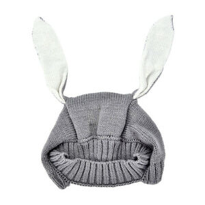 Winter Baby Rabbit Ears Knitted Hat Toddler Kids Wool Cap For Children 0-3Y .