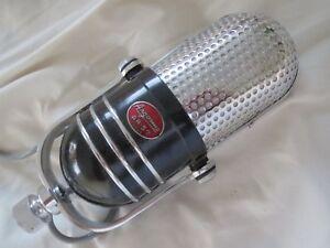 Vintage 1950s Argonne Ar57 Art Deco Crystal Microphone