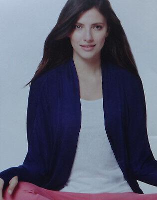 Damen Wellness Cardigan Yoga Jacke Shirt Single Jersey Lila Größe M 40/42