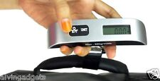 Digital LCD Display Luggage Weighing Scale 50kg/10g With Thermometer