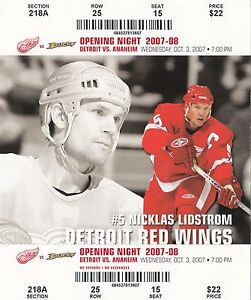 dfd8d41dce0 2007-08 DETROIT RED WINGS SEASON TICKET STUB PICK YOUR GAME DROPBOX ...