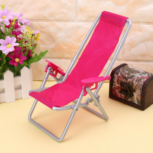 Folding Chair Doll Beach Lounger Dollhouse Furniture Cute Miniature Simulation