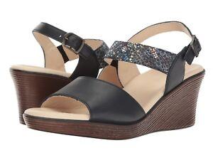 Size-7-M-SAS-San-Antonio-Shoes-Heather-Navy-Multi-Snake-Leather-Sandals