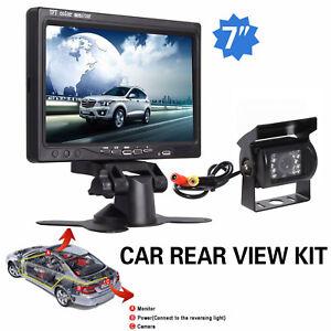 Rückfahrsystem Monitor mit Rückfahrkamera 7 Zoll HD Auto Wohnmobil KFZ LKW PKW