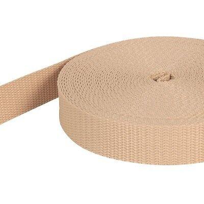 beige UV 10m PP Gurtband 1,4mm stark 40mm breit