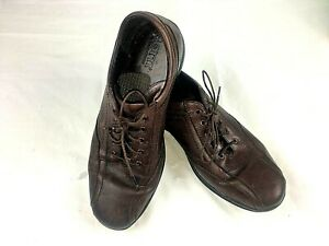BORN-Mens-Leather-Lace-Up-Oxfords-10-5-Brown-Shoes