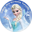 DISNEY-FROZEN-ELSA-BIRTHDAY-CAKE-EDIBLE-ROUND-PRINTED-CAKE-TOPPER-DECORATION thumbnail 2