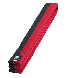 adidas Gürtel schwarz/rot Poomsae Taekwondo - Poom Belt Tae-Kwon-Do