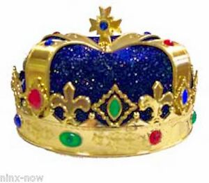 Image is loading Blue-Royal-Crown-King-Queen-Prince-Costume-Medieval-  sc 1 st  eBay & Blue Royal Crown King Queen Prince Costume Medieval Renaissance ...