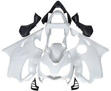 Unpainted White Fairing Bodywork Cowl Kit For 2001 2002 2003 Honda CBR 600 F4i