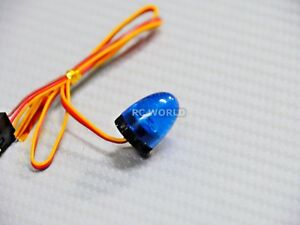 1-10-RC-Car-POLICE-LIGHTS-Top-Light-BEACON-ROUND-FLASHING-LEDS-BLUE