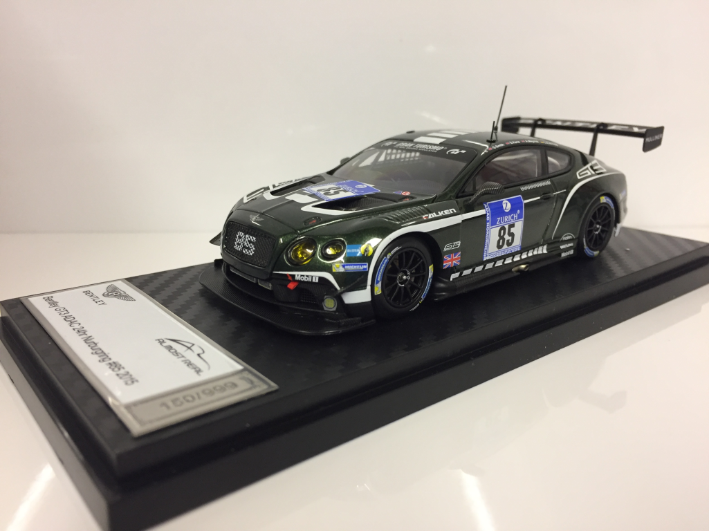 Presque réel 430301 Bentley GT3 ADAC 24hr Nurburgring  85 2015 échelle 1 43