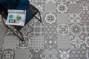 Fußboden Fliesen Vintage ~ Bodenfliese vintage decor mix grau matt cm feinsteinzeug