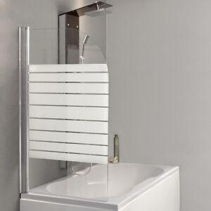 Details zu HOME DELUXE Badewannenaufsatz Duschabtrennung Duschtrennwand  Duschwand Badewanne