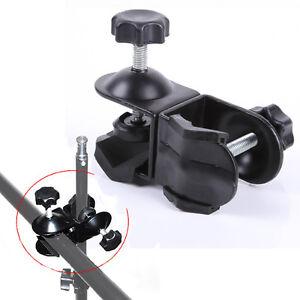 2 double u clip c clamp studio camera lighting boom arm light stand