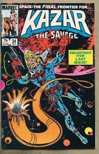 Ka-Zar-The-Savage-34-1984-nm-9-4-Ka-Zar-Zabu-Shanna-Kazar-last-issue