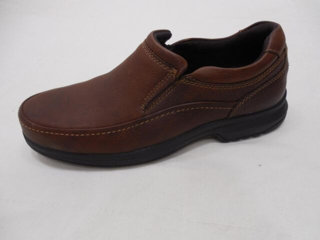 21e5b7fd0f4f Rockport Mens Size 12 M Adiprene by Adidas Slip on Loafers Brown Casual  Shoes