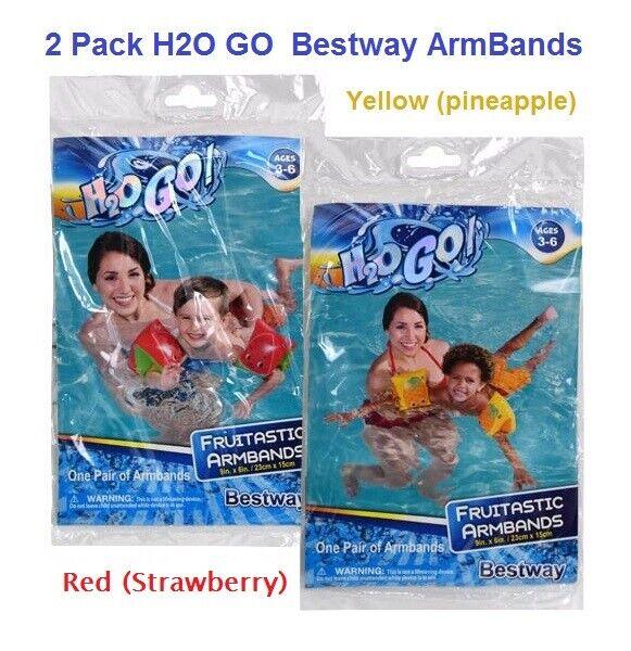 2 Pack (SET) Bestway H20 Go Fruitastic Armbands Watermelon 9 Inch
